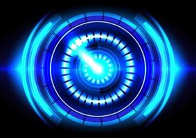 luz azul. abstrato base de alta tecnologia. interface futurística. tela de tecnologia de realidade virtual vetor