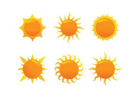 Sun Clipart Set Vector