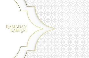 Ilustração em vetor ramadan kareem com papel branco cortado em forma geométrica para celebrações do mês sagrado islâmico