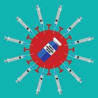 fundo do vetor da vacina do coronavírus.