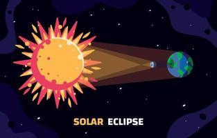 conceito de sistema de eclipse solar vetor