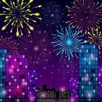 celebração do conceito de fogos de artifício vetor