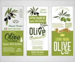 Coleção de vetores de rótulos de azeite