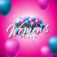 Cartão feliz do dia das mulheres vetor