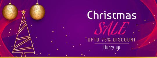 Modelo de banner promocional de venda de Natal abstrata vetor