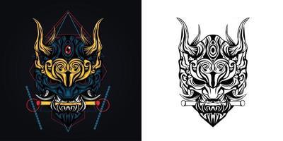 ilustração em vetor logotipo do mascote chave de Satanás