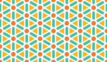 padrão abstrato. fundo do triângulo. ilustração em vetor padrão de cores brilhantes