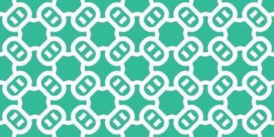 padrão sem emenda abstrato. padrão de estilo verde claro e branco com oval. ilustração vetorial vetor