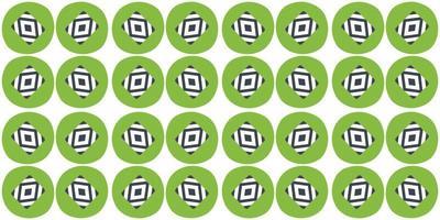 círculo verde de fundo padrão sem emenda. ilustração vetorial vetor