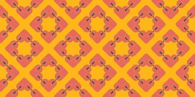 ilustração em vetor coração rosa padrão