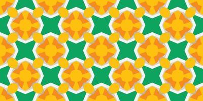 ilustração em vetor padrão abstrato sem emenda amarelo