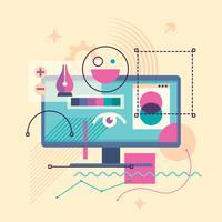 Software de design gráfico vetor