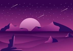 ilustração de fundo do espaço para explorar no espaço sideral vetor