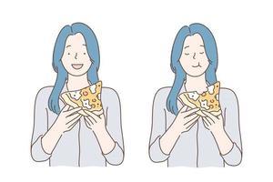 almoço, fastfood, conceito de fome vetor