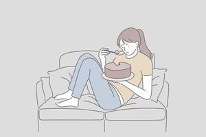 depressão, saúde mental, conceito de estresse. vetor