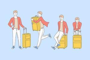 viagens, aventura, conceito de turismo. vetor
