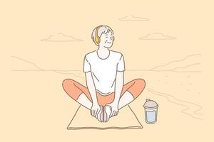 relaxamento, estilo de vida, conceito de saúde vetor