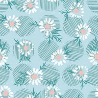Abstrata floral padrão sem emenda com camomila. Mão na moda texturas desenhadas vetor
