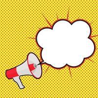 megafone com ilustração vetorial de bolha do discurso vetor