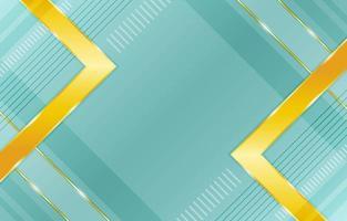 fundo verde geométrico gradiente com composição de realces dourados vetor