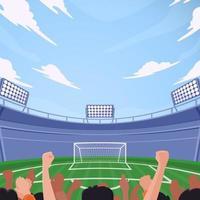 torcedores de futebol no estádio vetor