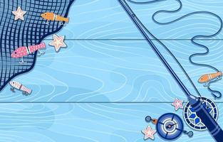 fundo de pesca simples vetor