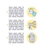 ícones de linha de conceito de padrões de captação de recursos éticos com texto. modelo de vetor de página ppt com espaço de cópia. folheto, revista, elemento de design de boletim informativo. dinheiro coletando ilustrações lineares em branco