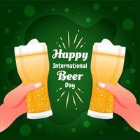 feliz dia internacional da cerveja vetor