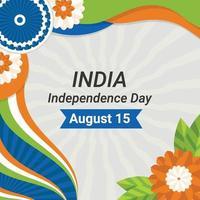 modelo de plano de fundo do dia da independência da índia vetor