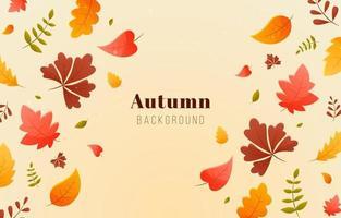 fundo de folhagem de outono vetor