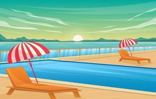paisagem de fundo de piscina vetor
