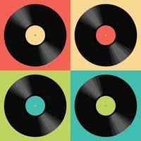 disco de vinil retro pop art vetor
