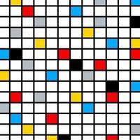 composição de cores do mosaico vetor