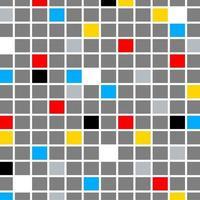composição retro da cor do mosaico vetor