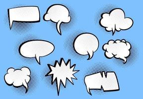 bolhas de palavras em quadrinhos retrô vetor