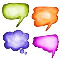aquarela bolhas de palavras em quadrinhos vetor