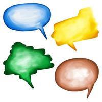 aquarela bolhas de palavras vetor