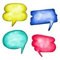 balões de fala em aquarela vetor