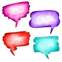 balões de palavras em aquarela vetor