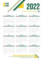 modelos simples de calendário de negócios vetor