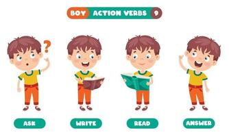 verbos de ação para educação infantil vetor