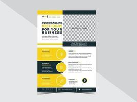 modelo de design de folheto corporativo multifuncional para seus serviços comerciais ou eventos vetor