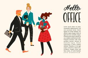 Ilustração de Vectior de pessoas do escritório. Trabalhadores de escritório, empresários, gerentes. vetor
