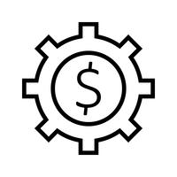 Ícone de vetor de engrenagem de negócios