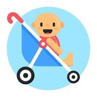 carrinho de bebê carrinho vetor