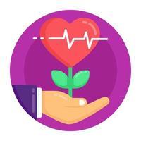planta de crescimento do coração vetor
