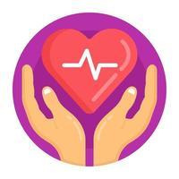 coração humano seguro vetor