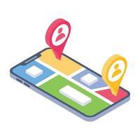 localização do usuário online vetor