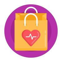 compras do dia do coração vetor