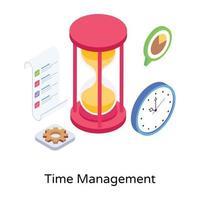 configuração de gerenciamento de tempo vetor